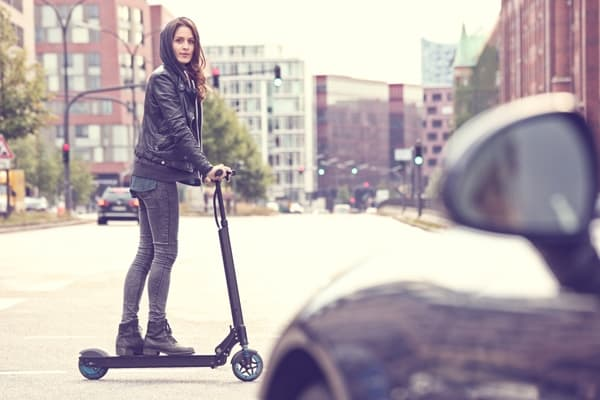 commuting by electric scooter